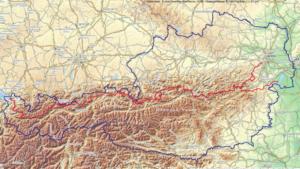 österreich-Landkarte